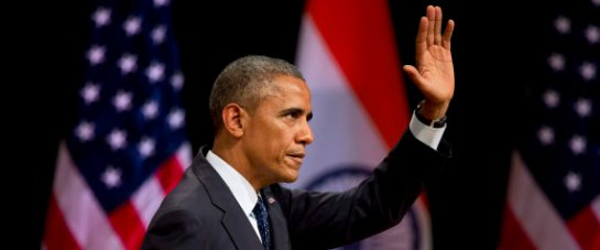 "Barack Obama, the 53-year-old leader American President went on to cite Article 25 of the Indian Constitution to remind Indians of the ""right to freely profess, practise and propagate religion."" (Image: Associated Press)"